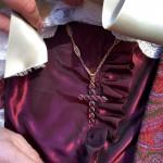 Croix en Grenat de Perpignan XIXième.