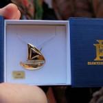 Grenat d'or 1er prix, une barque catalane en or et grenat !