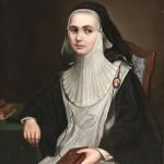 Portrait d'une moniale, école majorquine, 1ière moitié du XIXe s.