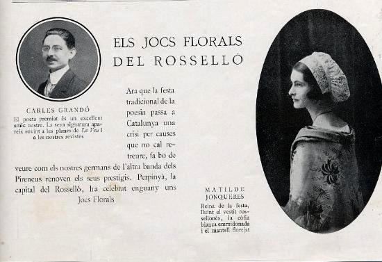résumé des jeux floraux de Perpignan dans un journal de Barcelone.