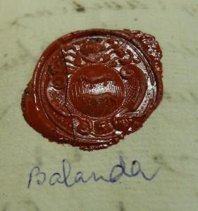 blason de M. de Balanda