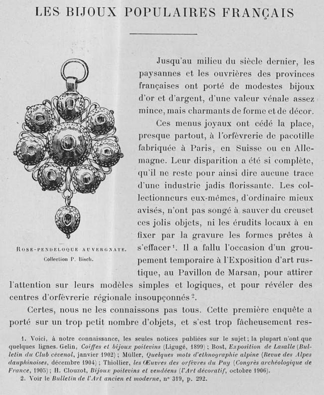 Bijoux traditionnels français