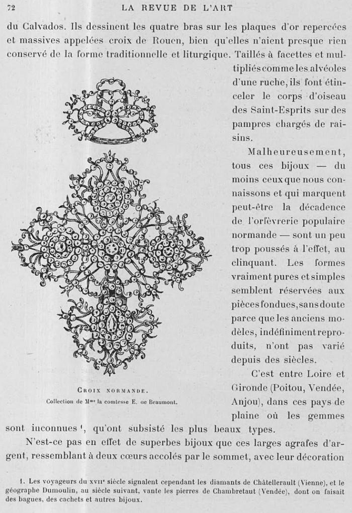 Clouzot, Henri. «Les bijoux populaires français». Revue de l'Art ancien et moderne, XXI,