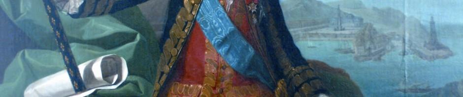 Le Comte de Mailly en 1781, avec en fond le Port-Vendres. Musée Hyacinthe Rigaud, Perpignan.