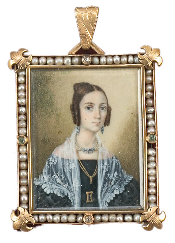 Pendentif à Portrait, vers 1830.