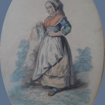 Femme d'Auvergne portant le serre-malice