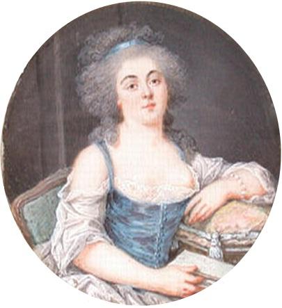 Bathilde d'Orléans, mère du duc d'Enghien, miniature