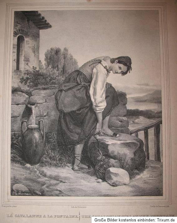 Estele de Barescut, Catalane à la fontaine