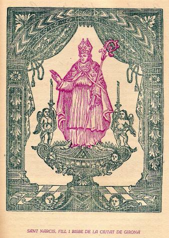 Probable représentation de la statue de Sant Narcis en argent