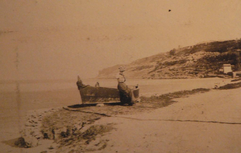 Plage d'Argelès, vers 1895.