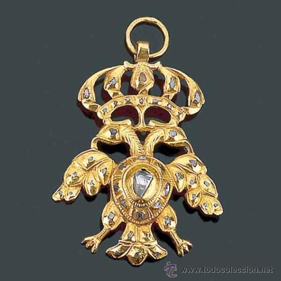 Aigle impérial, médaillon, Espagne XVIIe s. collection particulière.