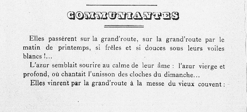 Revue La Clavellina 1899