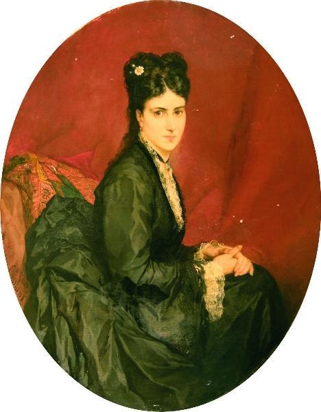 Portrait de Madame Léonce Berthomieu par Benjamin Constant.