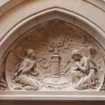 Tympan de la chapelle du St Sacrement, Perpignan.