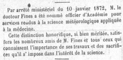 Le Roussillon 1872 docteur FINES