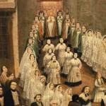 Procession du Corpus à Perpignan dans la rue Saint Jean, Collection Casa Pairal.