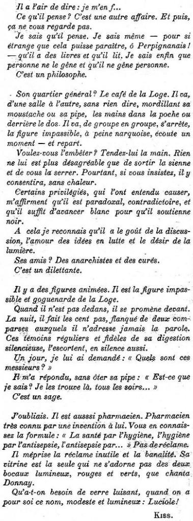 Mars 1914, Le Cri Catalan