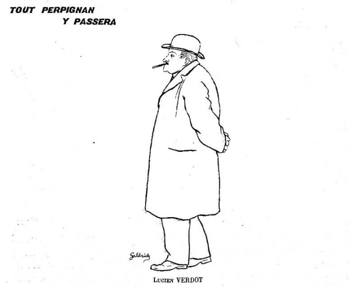 Lucien Verdot , caricature parue dans le Cri Catalan