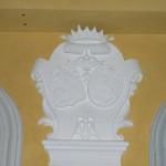 Blason des de Rovira dans le hall d'entrée de l'Hôtel particulier.