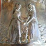 Plaque réalisée à l'occasion de la pièce Terra Baixa d'Angel Guimera.