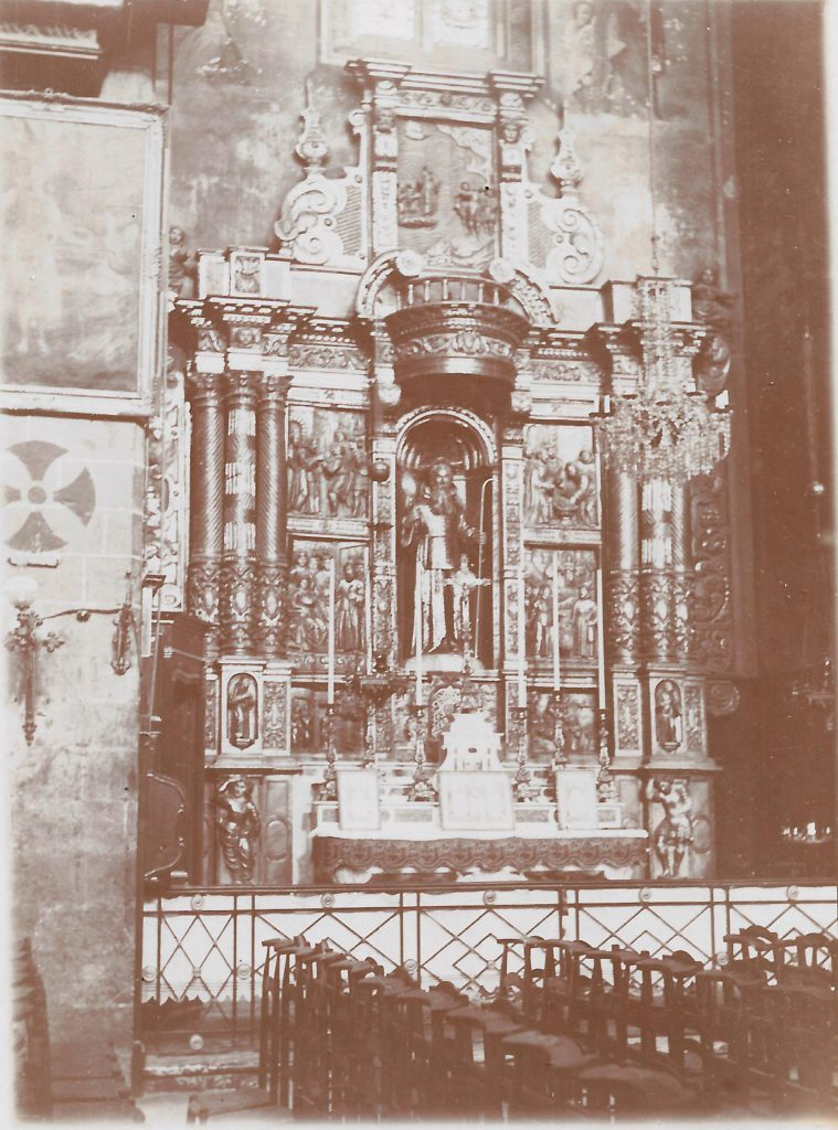 cathedrale de Perpignan le retable de Saint François de Paule, janvier 1901.