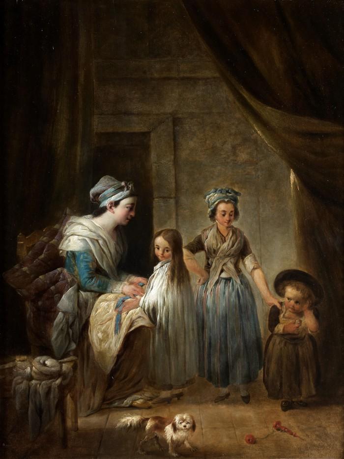 Jacques Gamelin, femme habillant des enfants.