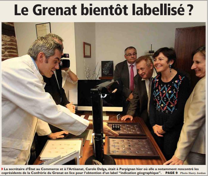 L'Indépendant du samedi 18 octobre 2014.