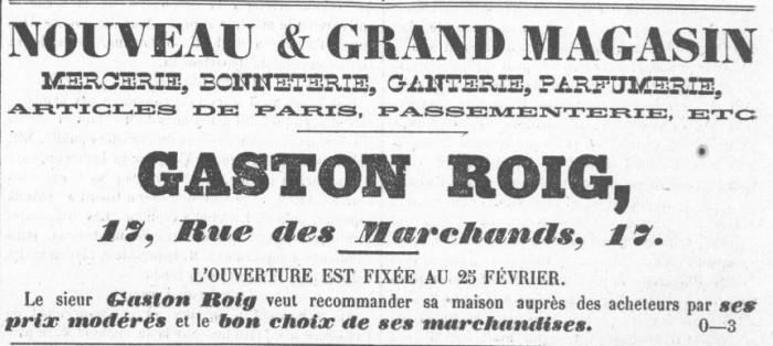 Le Roussillon 1872 modes