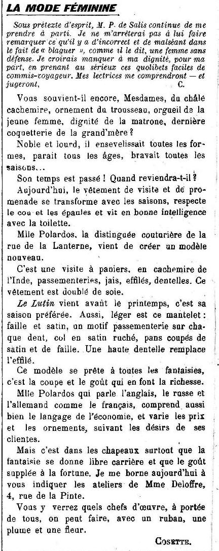 Décembre 1913 LE CRI CATALAN