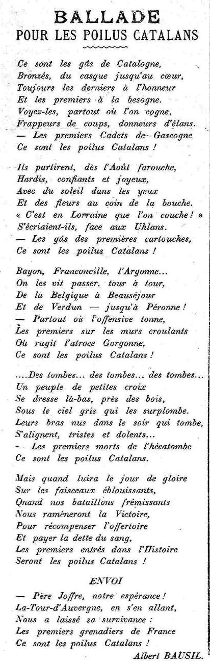 LE CRI CATALAN 1916 octobre