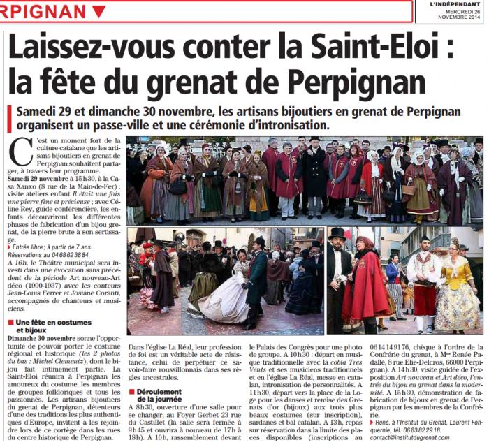 2014-11-26 01. L'Independant SAINT ELOI Perpignan 2014
