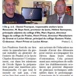 L'Indépendant, dimanche 7 décembre 2014
