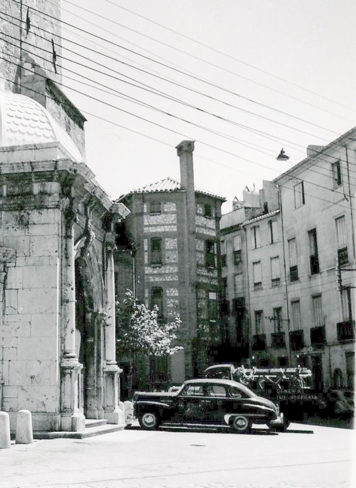 La maison presbytèrale dans les années 1950.