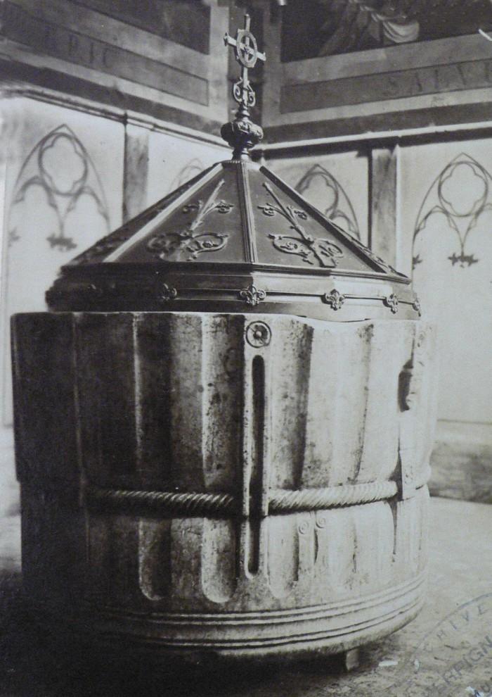 Cuve baptismale cathédrale de Perpignan, AMP.