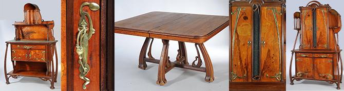 Benouville meubles art nouveau