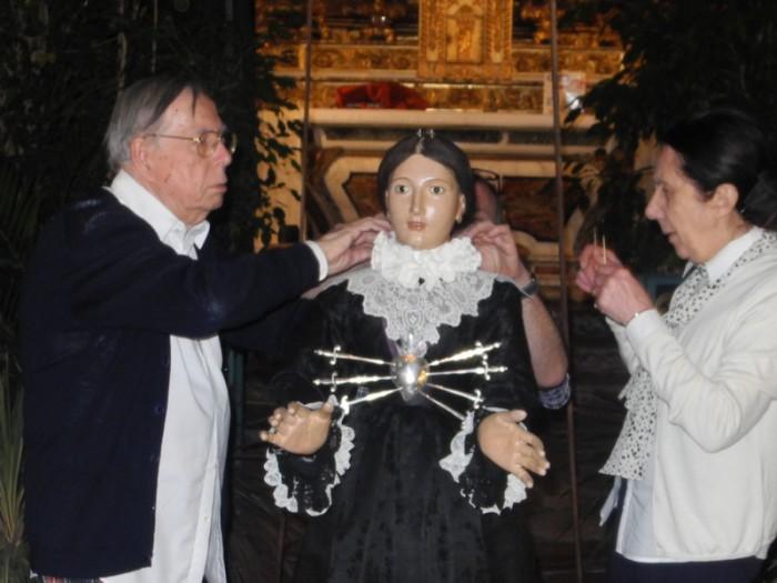 L'habillage de la Vierge