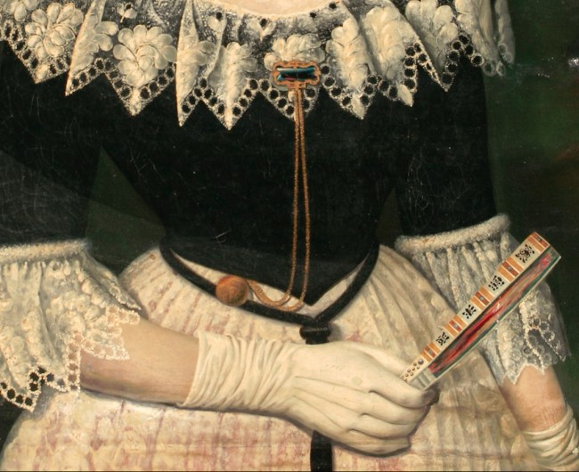 Antoni Esplugas i Gual, détail des bijoux et de l'éventail.