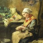 Louis DELFAU, Catalane à la cuisine.