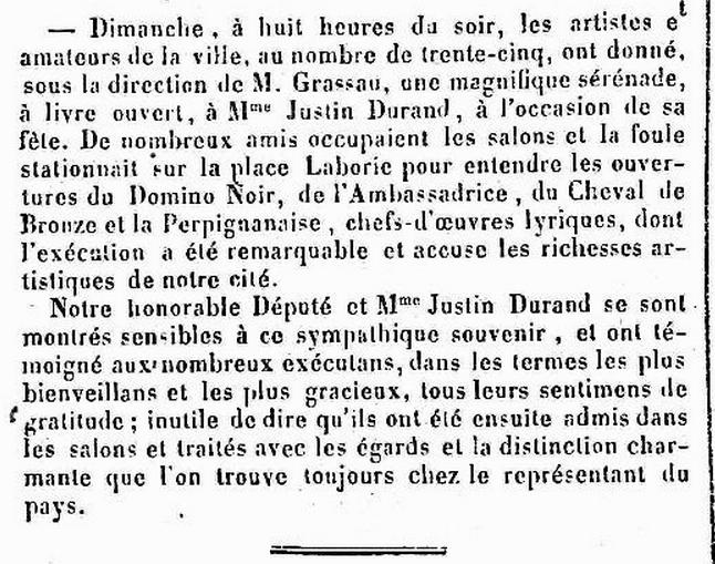 JPO 19 01 1859 Antoinette Durand serenade