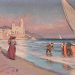 Sitjes, Catalogne, par Dionís Baixeras (1862 - 1943).