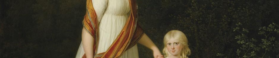MARIE-SOPHIE-FREDERIKKE, PRINCESSE DE DANEMARK ET DE NORVÈGE AVEC SA FILLE,