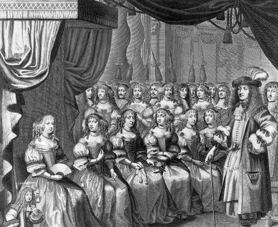 dames-de-la-cour-de-louis-xiv-gravure-almanach-de-versailles-pour-lannc3a9e-1665