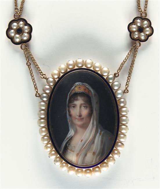 Jean-Baptiste Isabey Collier à portrait représentant Letizia (Madame Mère)