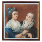 Double portrait de l'extrême fin du XVIIIe s. Double portrait de l'extrême fin du XVIIIe s.