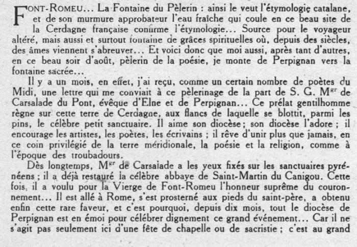Le Couronnement De La Vierge De Font Romeu Et Le Monde De La Litt Rature R Gionaliste 1926