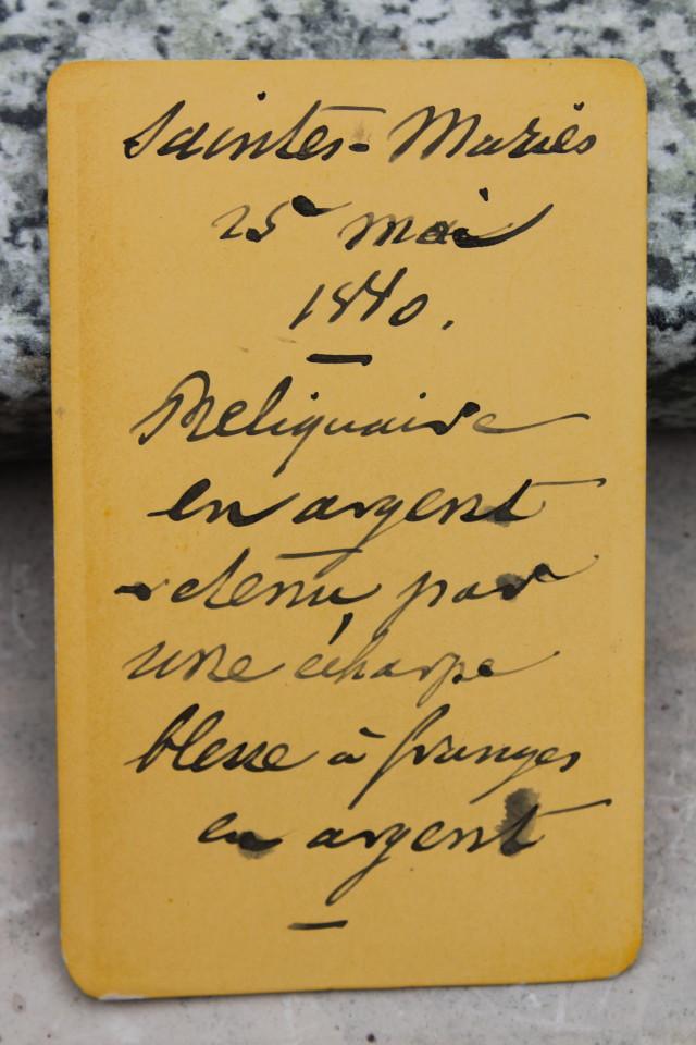 Inscription au dos de la photographie