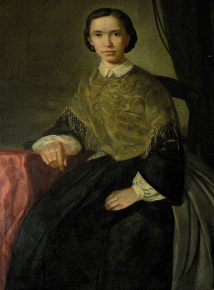 Portrait de jeune perpignanaise, vers 1860.