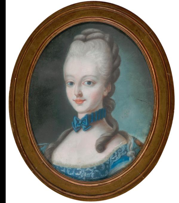 Portrait probable de Rose d Ortaffa née en 1770.