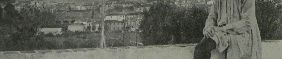 Violet depuis sa maison, face à Prades et au Canigou.