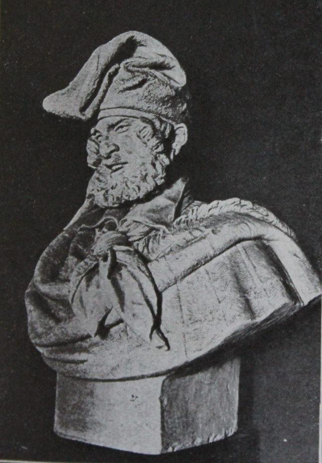 Belloc, A. , paysan catalan, buste en terre cuite lors de son entrée au musée.